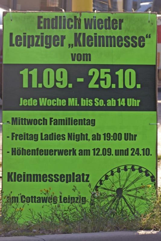 Plakat der Veranstaltung in Leipzig.